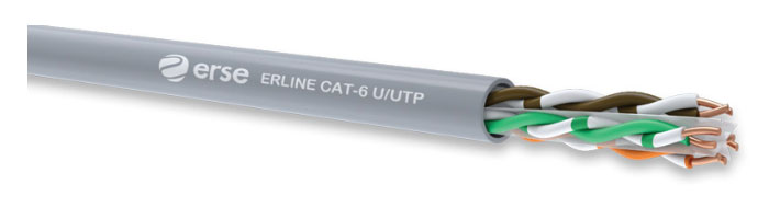 ERLINE CAT-6 U/UTP Zayıf Akım Veri İletişim Kablosu