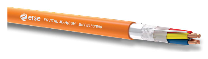 ERVITAL JE-H(St)H...Bd FE180/E90 Zayıf Akım Yangına Dayanıklı Kablo