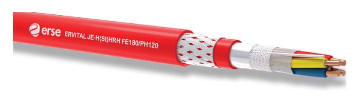 ERVITAL JE-H(St)HRH FE180/PH120 Zayıf Akım Yangına Dayanıklı Kablo