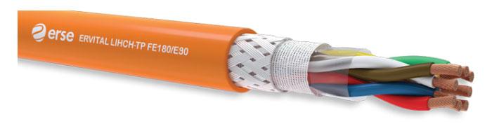 ERVITAL LIHCH-TP FE180/E90 Zayıf Akım Yangına Dayanıklı Kablo