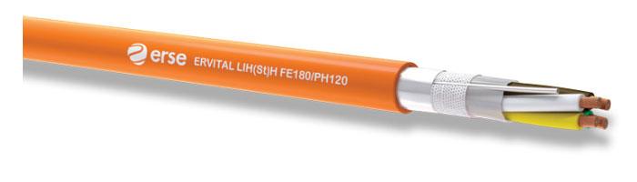 ERVITAL LIH(St)H FE180/PH120 Zayıf Akım Yangına Dayanıklı Kablo