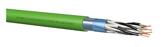 FireKab BFXI (C) FE180 150 / 250 (300) V Gemi ve Yat Haberleşme Kontrol Kablosu