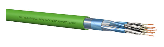FireKab BFXI (I&C) FE180 150 / 250 (300) V Gemi ve Yat Haberleşme Kontrol Kablosu