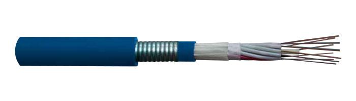 OFC LT CST FE 90 PH 90 / LSOH Kılıflı, Çift Zırhlı Çok Tüp Yangına Dayanıklı Fiberoptik Kablo