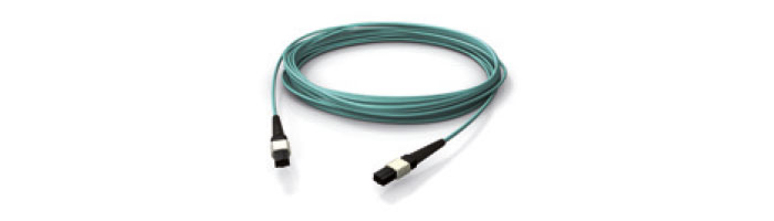 OM3 MPO/MTP MPO/MTP® Female Push Pull Locking (Aqua) Fiberoptik Kablo Aksesuarı