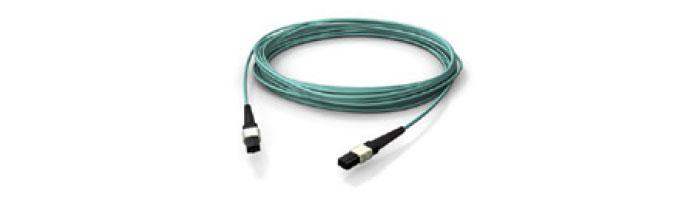 OM4 MPO/MTP MPO/MTP® Female Push Pull Locking (Aqua) Fiberoptik Kablo Aksesuarı