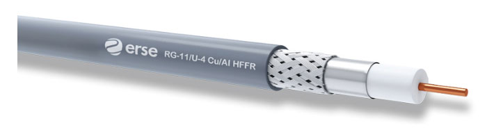 RG 11/U-4 Cu/Al HFFR Zayıf Akım Koaksiyel Kablo