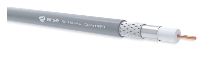 RG 11/U-4 Cu/CuSn HFFR Zayıf Akım Koaksiyel Kablo