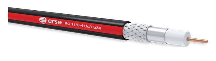 RG 11/U-4 Cu/CuSn Zayıf Akım Koaksiyel Kablo