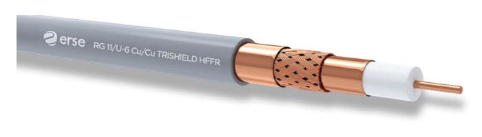 RG 11/U-6 Cu/Cu Trishield HFFR Zayıf Akım Koaksiyel Kablo