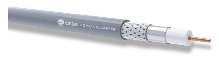 RG 6/U-4 Cu/Al HFFR Zayıf Akım Koaksiyel Kablo