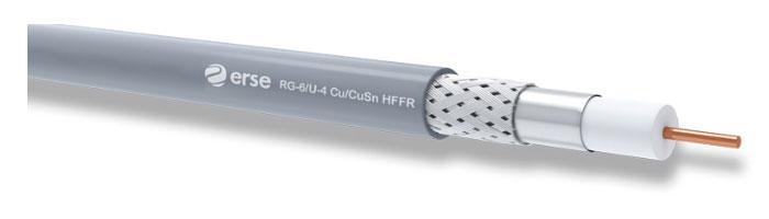 RG 6/U-4 Cu/CuSn HFFR Zayıf Akım Koaksiyel Kablo