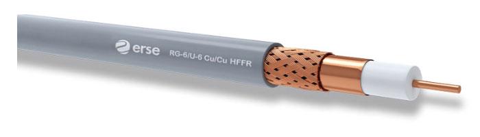 RG 6/U-6 Cu/Cu HFFR Zayıf Akım Koaksiyel Kablo