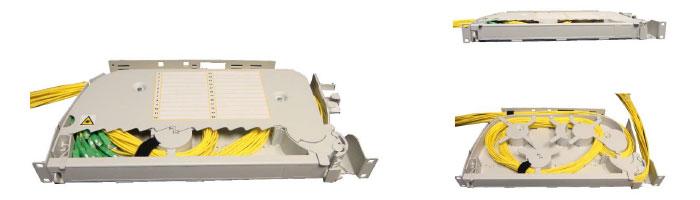 RM020-04 SRS3000 1U Patchcord Storage Shelf ODF Çekmece