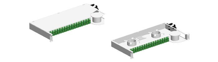 RM026-01 1X64 LCAPC Connectorised Splitter Shelf ODF Çekmece