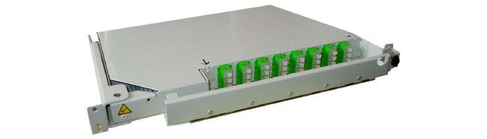 RM032-01 MEC32 1U – 32FO Preterminated Splitter Pivoting Shelf ODF Çekmece