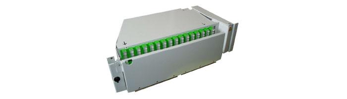 RM033-01 MEC128 3U - 128FO Preterminated Splitter Pivoting Shelf ODF Çekmece