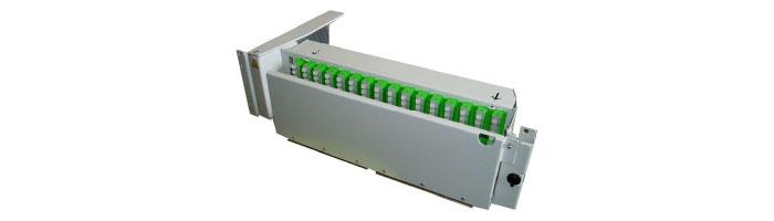RM034-01 MOB128 3U - 128FO Patch Panel Pivoting Shelf ODF Çekmece