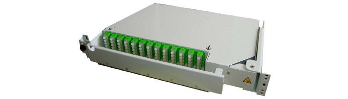RM035-01 MEC64 15 U 64FO Preterminated Splitter Pivoting Shelf ODF Çekmece
