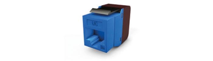 UC C300 MJ TR U WH V1 Keystone Jack Cat.5E RJ45 UTP 180° Tool Fast Blue Ekranlı Kablo Aksesuarı