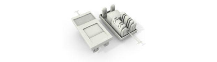 UC C300 MO TR U WH Cat5E UTP 38X25 Module 180° Punchdown In White Ekranlı Kablo Aksesuarı