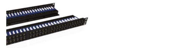 UC C300 PP TR U 48 1U BK 48Port Cat5E UTP 90° Punchdown Panel Rear Management in Black Ekranlı Kablo Aksesuarı