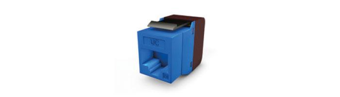 UC C400 MJ TR U WH V1 Keystone Jack Cat.6 RJ45 UTP 180° Tool Fast Blue Ekranlı Kablo Aksesuarı