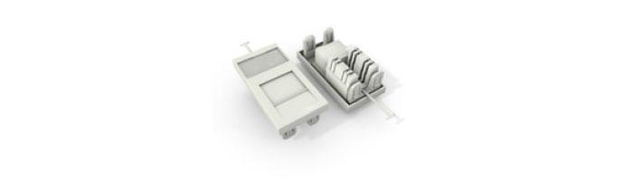 UC C400 MO TR U WH Cat6 UTP 38X25 Module 180° Punchdown in White Ekranlı Kablo Aksesuarı