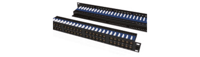 UC C400 PP TR S 48 1U BK 48Port Cat6 FTP 90° Punchdown Panel, Rear Management in Black Ekranlı Kablo Aksesuarı