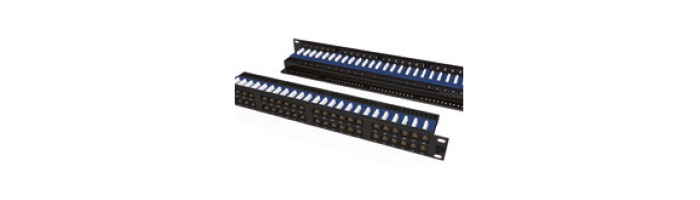 UC C400 PP TR U BK 48 1U 48Port Cat6 UTP 90° Punchdown Panel Rear Management in Black Ekranlı Kablo Aksesuarı