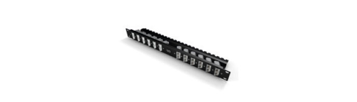 UC C500 PP AJ S BK 24 Flat Anled Cat6A Shielded Patch Panel For 90° Keystone Snap-in Jack Ekranlı Kablo Aksesuarı