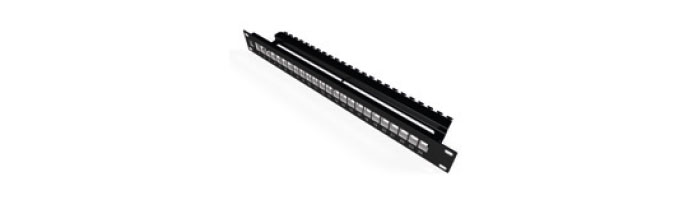 UC C500 PP S BK 24 V1 Modular Patch Panel For 90° Keystone Snap-in Jack Ekranlı Kablo Aksesuarı