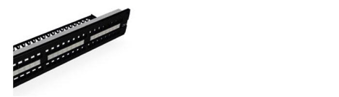 """UC CACC PP S BK 48 1U 19"""" 2U 48P FTP Keystone Panel, Empty , 180° Ekranlı Kablo ve Aksesuarları"""