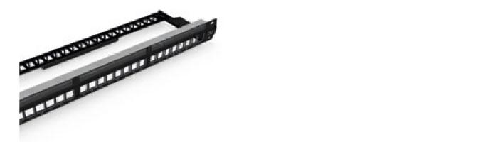 "UC CACC PP U BK 24 1U 19"" Empty Unshielded Patch Panel Ekranlı Kablo Aksesuarı"