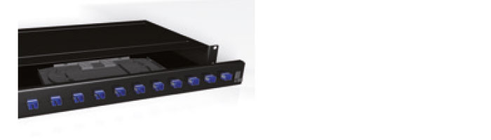 UC COMF PP LD SO BK 1U 24 Port LC Duplex Multimode Patch Panel Black Fiberoptik Kablo Aksesuarı