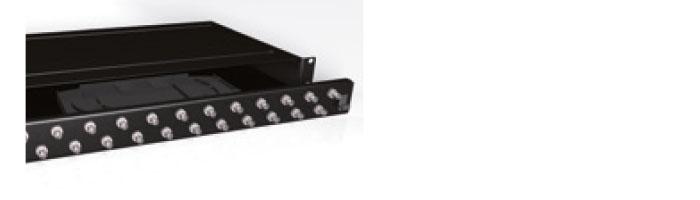 UC COMF PP ST S0 BK 1U 24 Port ST Simplex Multimode Panel Black Fiberoptik Kablo Aksesuarı