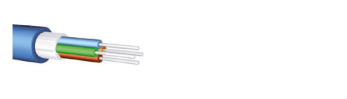 Ucfibre I/O DI N LSHF ES9 ES9 Tight Buffer, 2- 24 Fibres, Glass Yarns, Firebur® Sheath Fiberoptik Kablo