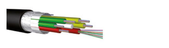 Ucfibre O ST D PE 1.8 KN Stranded Loose Tube, 6 – 264 Fibres; 6, 8 Or 12 Fibres Per Ø 2.3 mm Tube; Black PE Sheath Fiberoptik Kablo