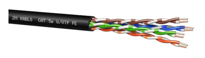 CAT 5e U/UTP PE Bilgi İletişim Kablosu