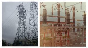 Dış ortamda kullanılan kablo sonlandırma örneği ve havai hat örneği